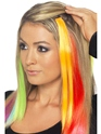 Hair Extensions Neon Green  - Back View - Thumbnail