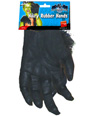 Hairy Hands Black Rubber  - Back View - Thumbnail