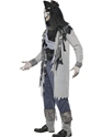 Adult Haunted Swashbuckler Pirate Costume  - Back View - Thumbnail