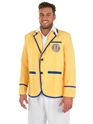 Adult Hi De Hi Male Yellow Coat Costume  - Back View - Thumbnail