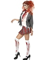 Adult Zombie School Girl Costume  - Side View - Thumbnail