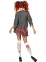 Adult Zombie School Girl Costume  - Back View - Thumbnail