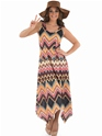 Adult Ladies Hippie Zig Zag Dress Costume Thumbnail