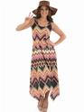 Adult Ladies Hippie Zig Zag Dress Costume Thumbnail