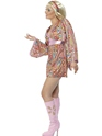 Adult Hippy Hottie Costume  - Back View - Thumbnail