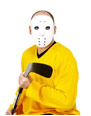 Hockey Face Mask White Pvc  - Back View - Thumbnail