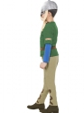 Horrible Histories Viking Boy Costume  - Back View - Thumbnail