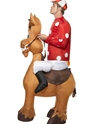 Adult Inflatable Jockey and Horse Costume  - Back View - Thumbnail