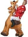 Adult Inflatable Jockey and Horse Costume Thumbnail