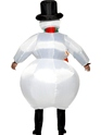 Adult Inflatable Snowman Costume  - Side View - Thumbnail