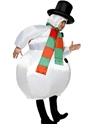 Adult Inflatable Snowman Costume  - Back View - Thumbnail
