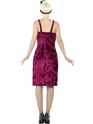 Adult Burgundy Jazz Flapper Costume  - Side View - Thumbnail
