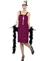 Adult Burgundy Jazz Flapper Costume Thumbnail