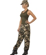 Adult Khaki Camo Army Costume  - Side View - Thumbnail