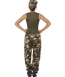 Adult Khaki Camo Army Costume  - Back View - Thumbnail