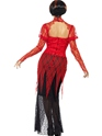 Adult Lace Devil Vampiress Costume  - Side View - Thumbnail