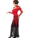 Adult Lace Devil Vampiress Costume  - Back View - Thumbnail