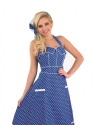 Adult Ladies 50s Blue Dress Costume  - Back View - Thumbnail
