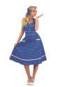 Adult Ladies 50s Blue Dress Costume Thumbnail