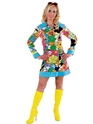 Adult Ladies 60's Hippy Costume Thumbnail