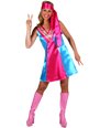 Adult Ladies 70s Satin Go-Go Dress Thumbnail