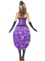 Adult Ladies Burlesque Glamour Costume  - Side View - Thumbnail