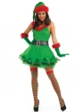 Adult Ladies Christmas Elf Costume  - Back View - Thumbnail