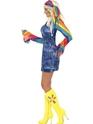 Adult Ladies Groovier Dancer Costume  - Back View - Thumbnail