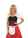 Adult Bavarian Lady Oktoberfest Costume  - Back View - Thumbnail