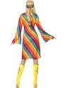 Adult Ladies Rainbow Hippie Costume  - Side View - Thumbnail