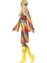 Adult Ladies Rainbow Hippie Costume  - Back View - Thumbnail