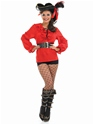 Adult Ladies Red Pirate Shirt  - Back View - Thumbnail