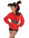 Adult Ladies Red Pirate Shirt Thumbnail