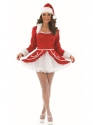 Adult Ladies Santa Baby Costume  - Back View - Thumbnail