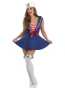 Adult Sexy Sailor Girl Costume  - Back View - Thumbnail