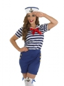 Adult Sassy Sailor Costume  - Back View - Thumbnail