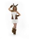 Adult Ladies Sexy Reindeer Costume  - Back View - Thumbnail