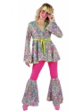 Adult Ladies Deluxe 60s Happy Hippie Costume Thumbnail