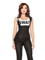 Adult Ladies SWAT Bombshell Costume  - Back View - Thumbnail