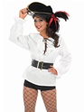 Adult Ladies White Pirate Shirt  - Back View - Thumbnail