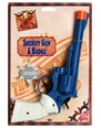 Large Sheriffs Gun And Badge Plastic  - Back View - Thumbnail