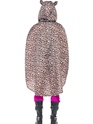 Leopard Party Poncho Festival Costume  - Side View - Thumbnail