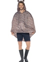 Leopard Party Poncho Festival Costume  - Back View - Thumbnail