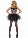 Adult Burlesque Leopard Tutu Costume  - Back View - Thumbnail