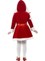 Child Little Miss Santa Costume  - Side View - Thumbnail