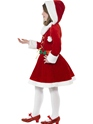 Child Little Miss Santa Costume  - Back View - Thumbnail