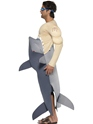 Adult Man Eating Shark Costume  - Side View - Thumbnail