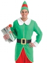 Adult Mens Elf Costume  - Back View - Thumbnail