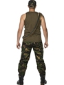 Adult Mens Khaki Camo Army Costume  - Side View - Thumbnail