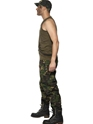 Adult Mens Khaki Camo Army Costume  - Back View - Thumbnail